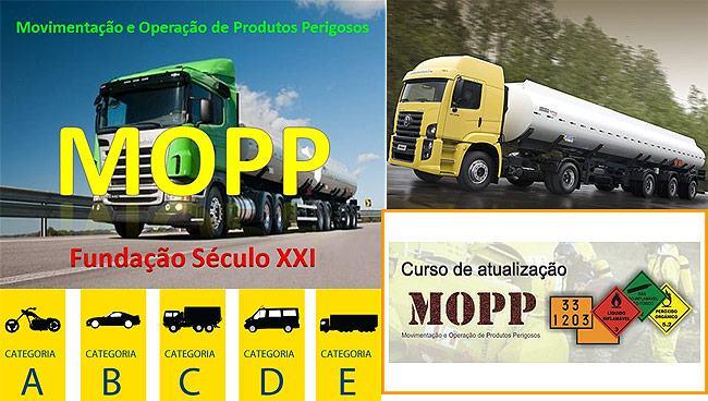 CURSO MOPP CATEGORIAS DE CNH ENTRE OUTROS
