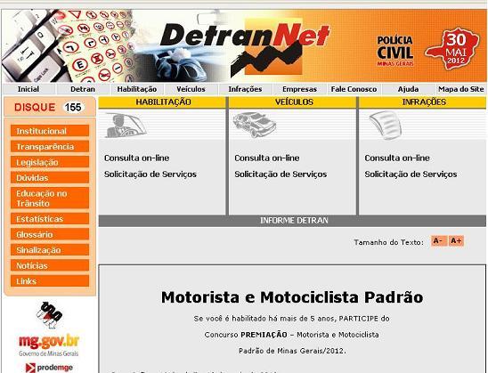 DETRANET MG SERVIÇOS SIMULADOS MULTAS PROVAS COMO ACESSAR ONLINE