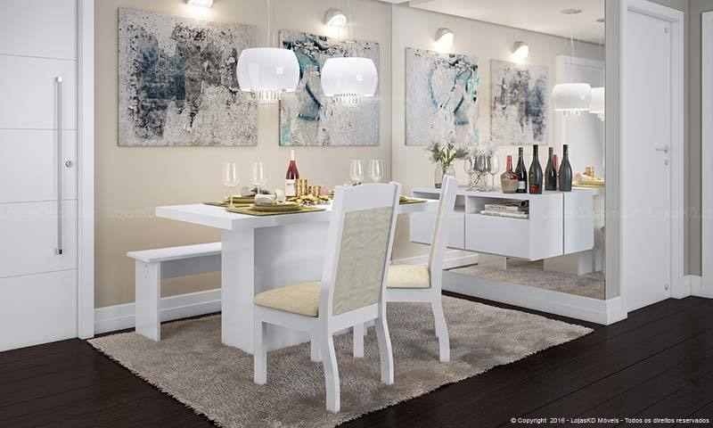Espelho na sala de jantar decora e amplia ambiente DICAS