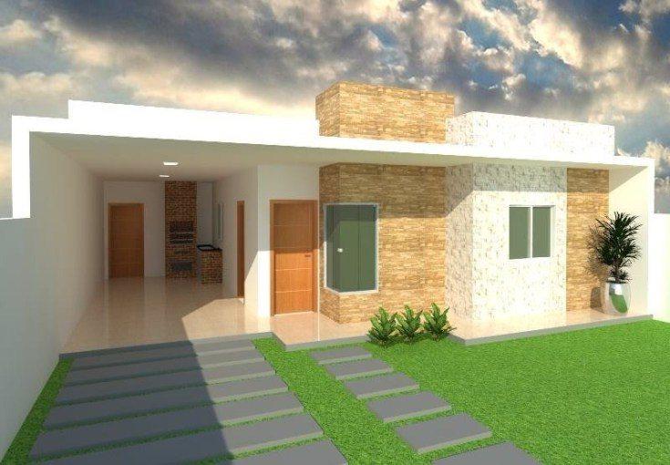 Planta e projeto para casa pequena moderna for Casa moderna 99 arena