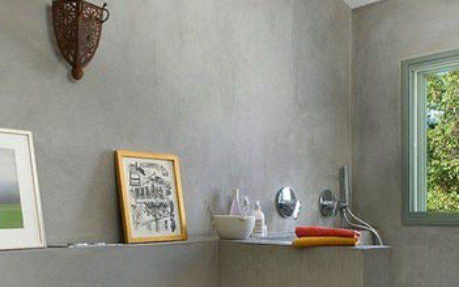 Decoração de parede com cimento rústico como aplicar